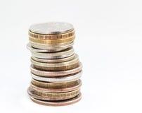 Stapel van Russische muntstukken. royalty-vrije stock foto's
