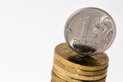 Stapel van Russische roebels Stock Afbeeldingen