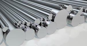 Stapel van staal om bars, lijnanimatie het 3d teruggeven stock video