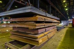 Stapel van staalplaat stock afbeelding