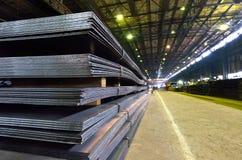 Stapel van staalplaat stock foto