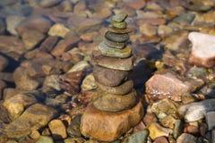 Stapel van steen stock foto