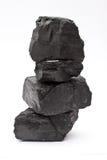 Stapel van steenkool Royalty-vrije Stock Foto