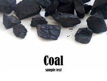 Stapel van steenkool stock foto
