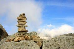 Stapel van stenen in Hoge Tatras Royalty-vrije Stock Afbeeldingen