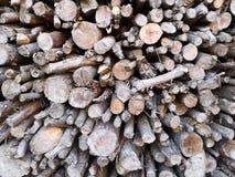 Stapel van takken en timmerhout royalty-vrije stock foto's
