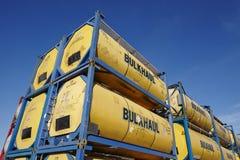 Stapel van tankcontainer Royalty-vrije Stock Foto's