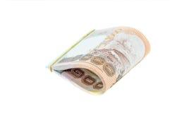Stapel van Thais Bahtcontant geld Stock Foto's