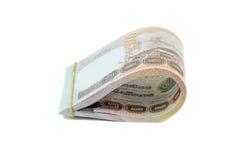 Stapel van Thais Bahtcontant geld Royalty-vrije Stock Afbeeldingen
