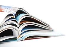 Stapel van tijdschriften stock foto