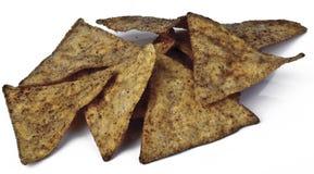 Stapel van tortillaspaanders Stock Foto