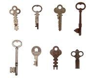 Stapel van uitstekende sleutels royalty-vrije stock afbeeldingen