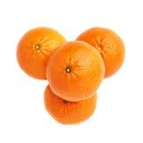 Stapel van veelvoudige rijpe verse sappige mandarijnen Royalty-vrije Stock Foto's