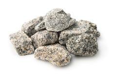 Stapel van van verpletterde granietstenen royalty-vrije stock foto