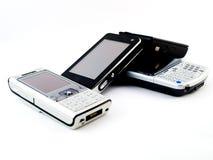 Stapel van Verscheidene Moderne Mobiele Telefoons Royalty-vrije Stock Foto