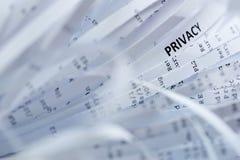 Stapel van verscheurd document - privacy stock afbeelding