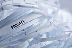 Stapel van verscheurd document - privacy royalty-vrije stock fotografie