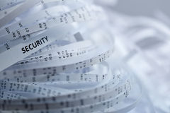 Stapel van verscheurd document - veiligheid stock afbeelding