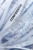 Stapel van verscheurd document - vertrouwelijkheid stock afbeeldingen