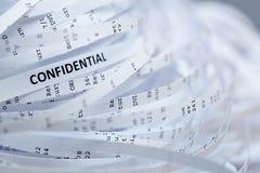 Stapel van verscheurd vertrouwelijk document - royalty-vrije stock foto