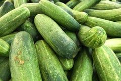 Stapel van verse groene komkommers Royalty-vrije Stock Afbeelding