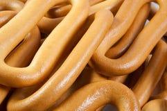 Stapel van verse ongezuurde broodjes stock foto