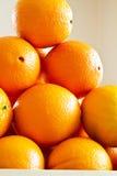 Stapel van verse Sinaasappelen Stock Foto