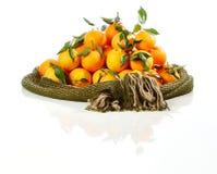 Stapel van verse Sinaasappelen Royalty-vrije Stock Afbeelding