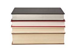 Stapel van vier boeken Royalty-vrije Stock Foto's