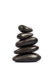Stapel van vijf zwarte stenen Royalty-vrije Stock Foto