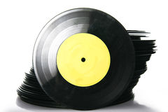 Stapel van vinylverslag Stock Fotografie