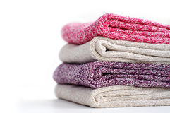 Stapel van warme multicolored vrouwensokken Royalty-vrije Stock Fotografie