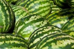 Stapel van watermeloenen royalty-vrije stock foto's