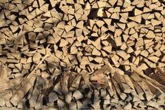 Stapel van woodfire Stock Afbeelding