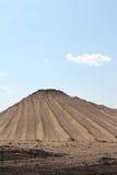 Stapel van zand, zandige textuur stock afbeelding