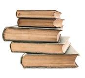 Stapel van zeer oude boeken Stock Afbeeldingen