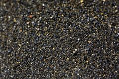 Stapel van Zwart islandic zand Stock Foto