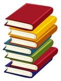Stapel vele boeken royalty-vrije illustratie