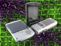 Stapel Verscheidene Moderne Mobiele Telefoons Royalty-vrije Stock Foto