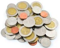 Stapel verschillende muntstukken Stock Foto's