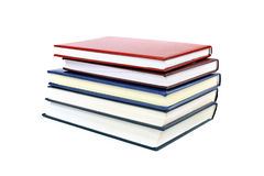 Stapel verschillende verscheidenheids kleurrijke boeken Stock Fotografie