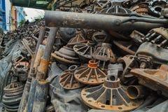 Stapel vieler benutzten alten Maschine parts#1 Stockfoto