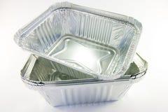 Stapel Vierkante Dienbladen van de Catering Royalty-vrije Stock Afbeeldingen