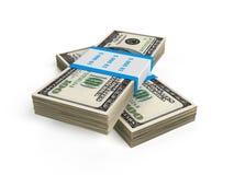 Stapel von 100 wir Rechnungen Lizenzfreies Stockbild