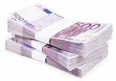 Stapel von 500 Euro Lizenzfreies Stockbild