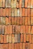 Stapel von alten Ziegelsteinen, Beschaffenheit Stockbild