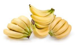 Stapel von Bananen auf einem weißen Hintergrund Stockbild