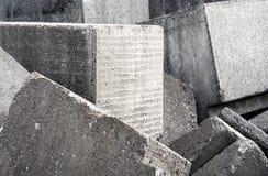 Stapel von Betonblöcken Stockfotografie