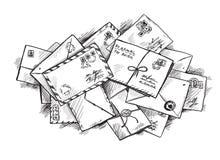Stapel von Buchstaben Lizenzfreies Stockfoto