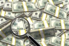 Stapel von Dollar Lizenzfreies Stockbild